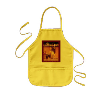 Lady Violetta and the Knave, Kidsize (in yellow) Kids Apron