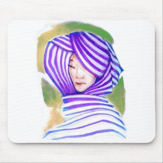 Lady Wearing Hijab Mouse Pad