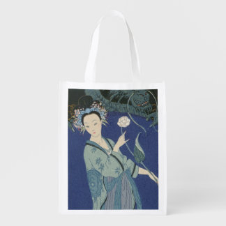 Lady with a Dragon (colour litho)