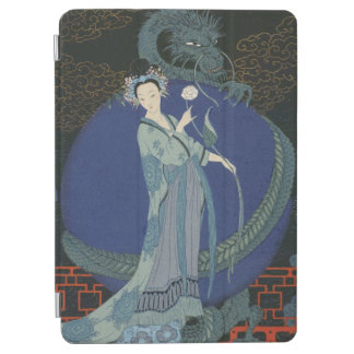 Lady with a Dragon (colour litho) iPad Air Cover