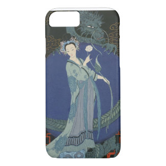 Lady with a Dragon (colour litho) iPhone 8/7 Case