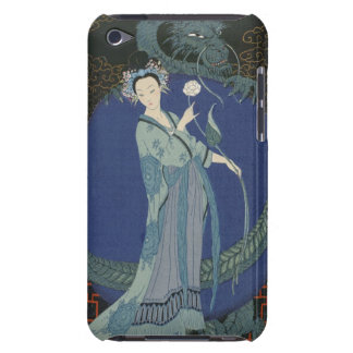 Lady with a Dragon (colour litho) iPod Touch Case