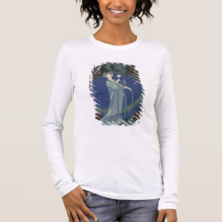 Lady with a Dragon (colour litho) Long Sleeve T-Shirt