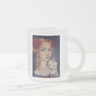 Lady with a Ferret Frosted Glass Coffee Mug