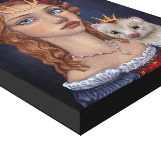 Lady with a Ferret Stretched Canvas Print