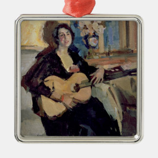Lady with a Guitar, 1911 Christmas Ornament