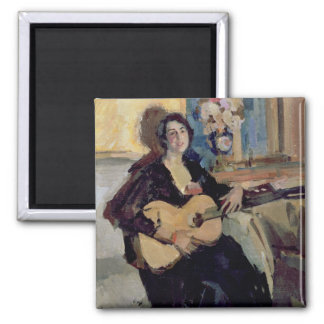Lady with a Guitar 1911 Fridge Magnets