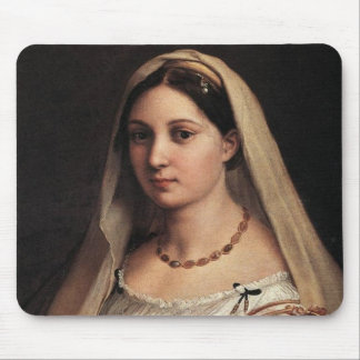 Lady with a Veil Mouse Pad