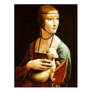 Lady with an Ermine by Leonardo da Vinci , 1483, o Postcard