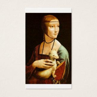 Lady with an Ermine by Leonardo Da Vinci c. 1490 Business Card