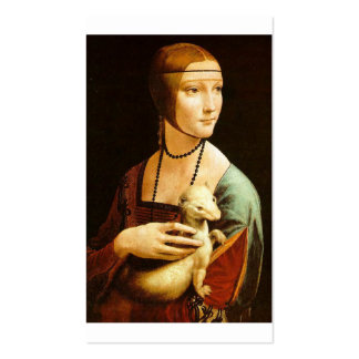 Lady with an Ermine by Leonardo Da Vinci c. 1490 Pack Of Standard Business Cards