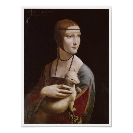Lady with an Ermine, Leonardo da Vinci, 1485