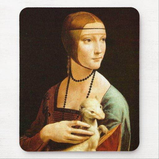 Lady with an Ermine, Leonardo Da Vinci Mousepad