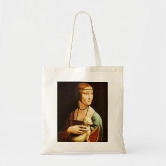 Lady with an Ermine, Leonardo Da Vinci Tote Bag