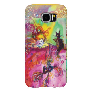 LADY WITH BLACK CAT AND MASK  Masquerade Night Samsung Galaxy S6 Cases