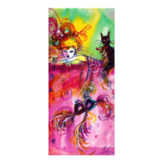 LADY WITH BLACK CAT PERSONALISED RACK CARD