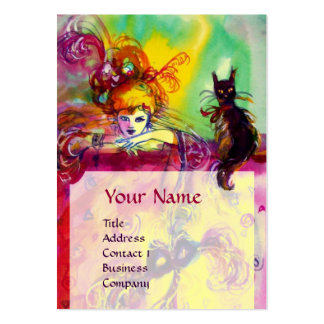 LADY WITH BLACK CAT / Venetian Masquerade Ball Pack Of Chubby Business Cards