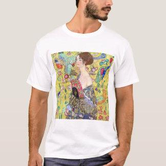 Lady with Fan by Gustav Klimt, Vintage Japonism T-Shirt