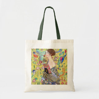 Lady with Fan by Gustav Klimt, Vintage Japonism Tote Bag