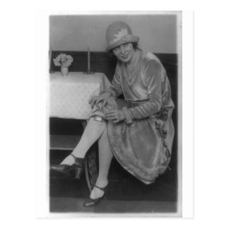 Lady With Flask 1926 Postcard