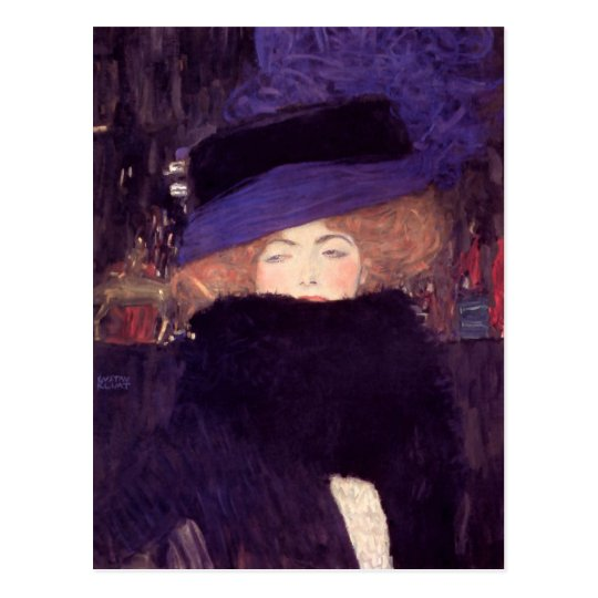 Lady with Hat and Boa by Gustav Klimt