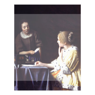 Lady with Maidservant Holding Letter by Vermeer 21.5 Cm X 28 Cm Flyer