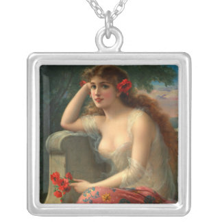 Lady With Poppy Classic Necklace