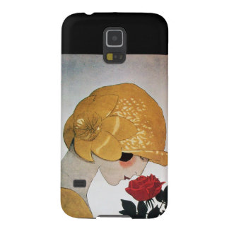 LADY WITH RED ROSE CASES FOR GALAXY S5