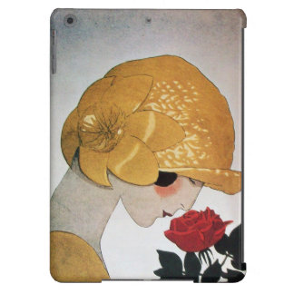 LADY WITH RED ROSE COVER FOR iPad AIR
