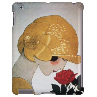 LADY WITH RED ROSE iPad CASE