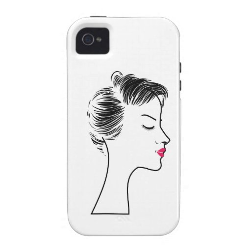 lady with short hair iPhone 4 cases
