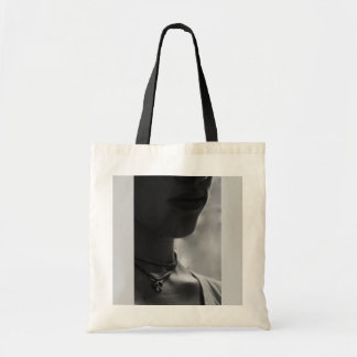 Lady with the butterfly necklace canvas bags