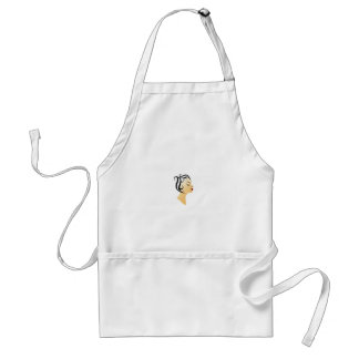 Lady with victory rolls standard apron