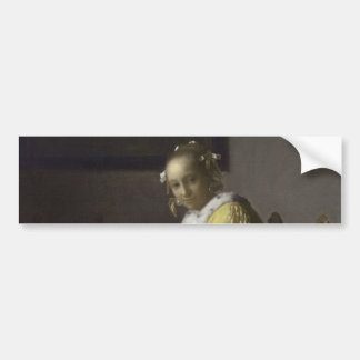 Lady Writing a Letter by Johannes Vermeer Bumper Stickers