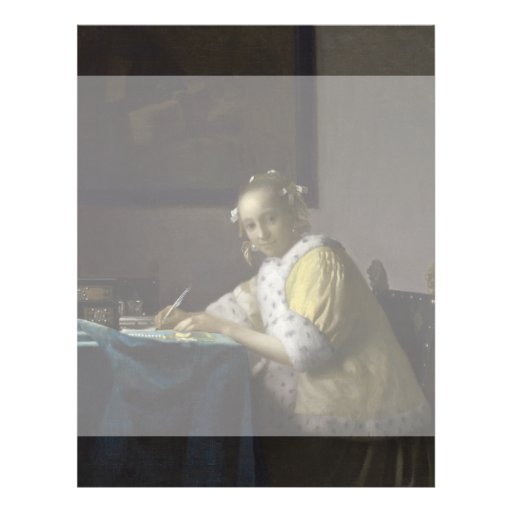 Lady Writing a Letter by Johannes Vermeer Flyer Design