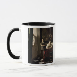 Lady writing a letter with her Maid, c.1670 Mug