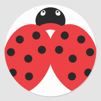 ladybeetle icon round sticker