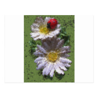 Ladybird and Daisies Postcard