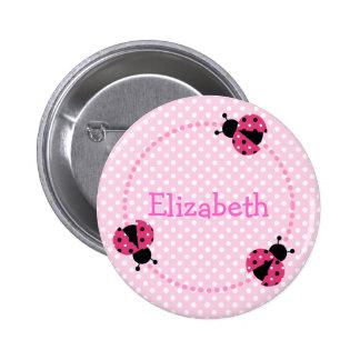 Ladybird badge/button 6 cm round badge