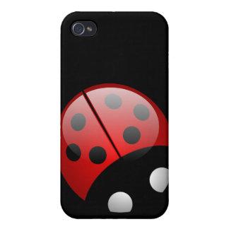 Ladybird Black iPhone 4/4S Case