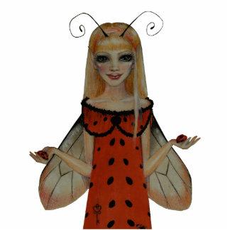 Ladybird Faerie Standing Photo Sculpture
