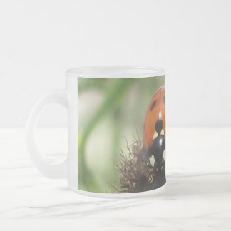 Ladybird Frosted Glass Mug