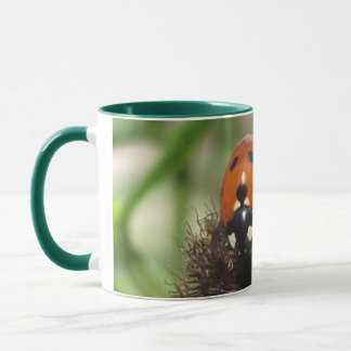 Ladybird - Hunter Green Ringer Mug  325ml