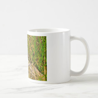 Ladybird in the grass picture mug