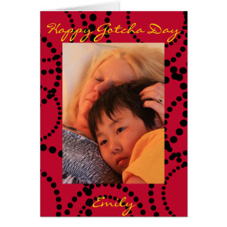 Ladybird inspired Gotcha Day Card