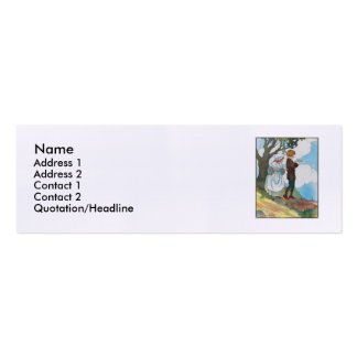 Ladybird, ladybird, fly away home! Double-Sided mini business cards (Pack of 20)