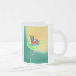 Ladybird, Ladybug, Either Way I'm Cute Frosted Glass Coffee Mug