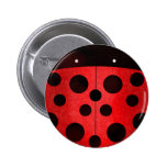 Ladybird Ladybug - pin badge buttons