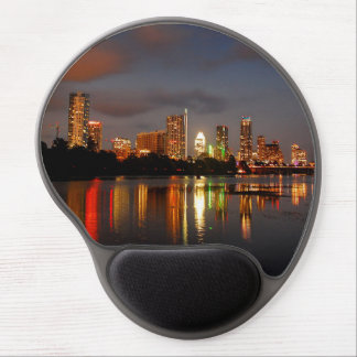 Ladybird Lake Austin Texas Night Skyline Gel Mouse Mat