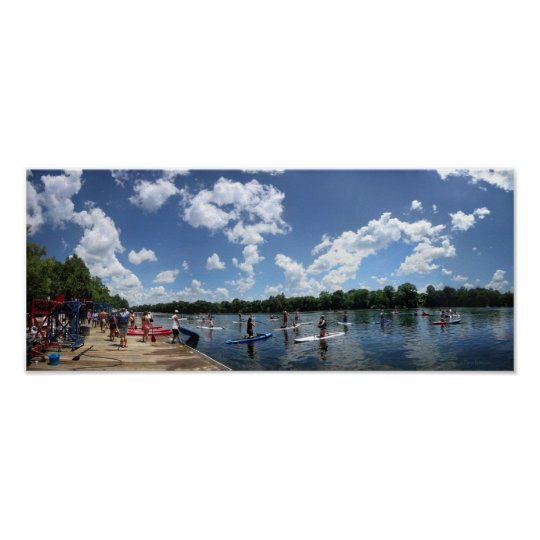 Ladybird Lake Boating - Austin, Texas Poster